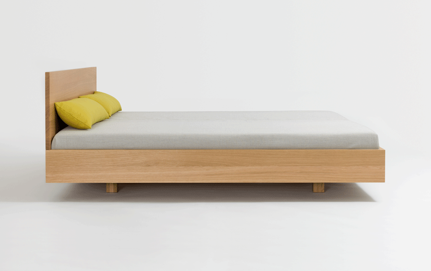 Bed With Wooden Headboard Simple Hi Zeitraum Sustainable Furniture