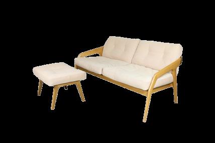 FRIDAY 2 + POUF – Sofa mit Fußschemel